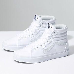 Vans White High Top Canvas Sk8-High